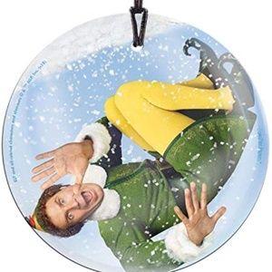 Buddy the Elf Glass Ornament